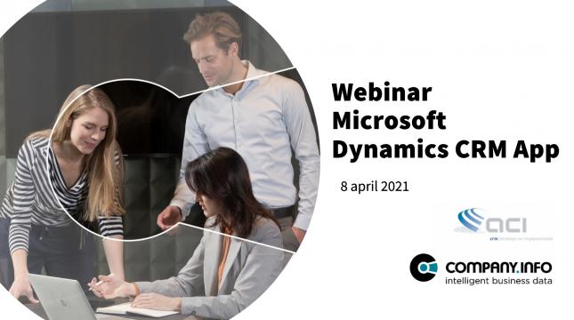 Webinar: Company.info App voor Microsoft Dynamics CRM Logo